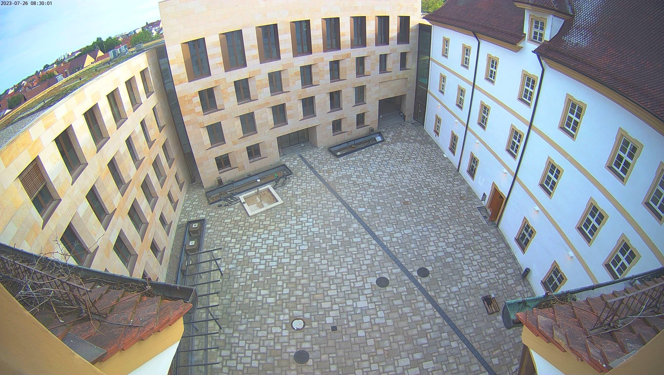 Webcam im Schloss Innenhof Herzogenaurach